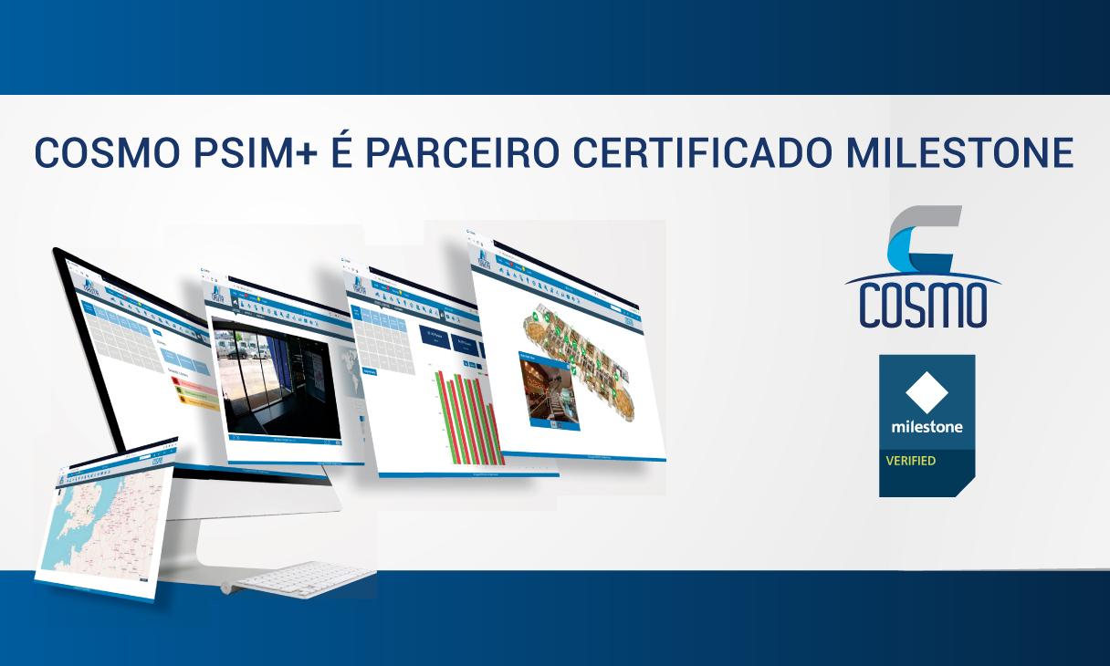 COSMO PSIM+ é parceiro certificado Milestone