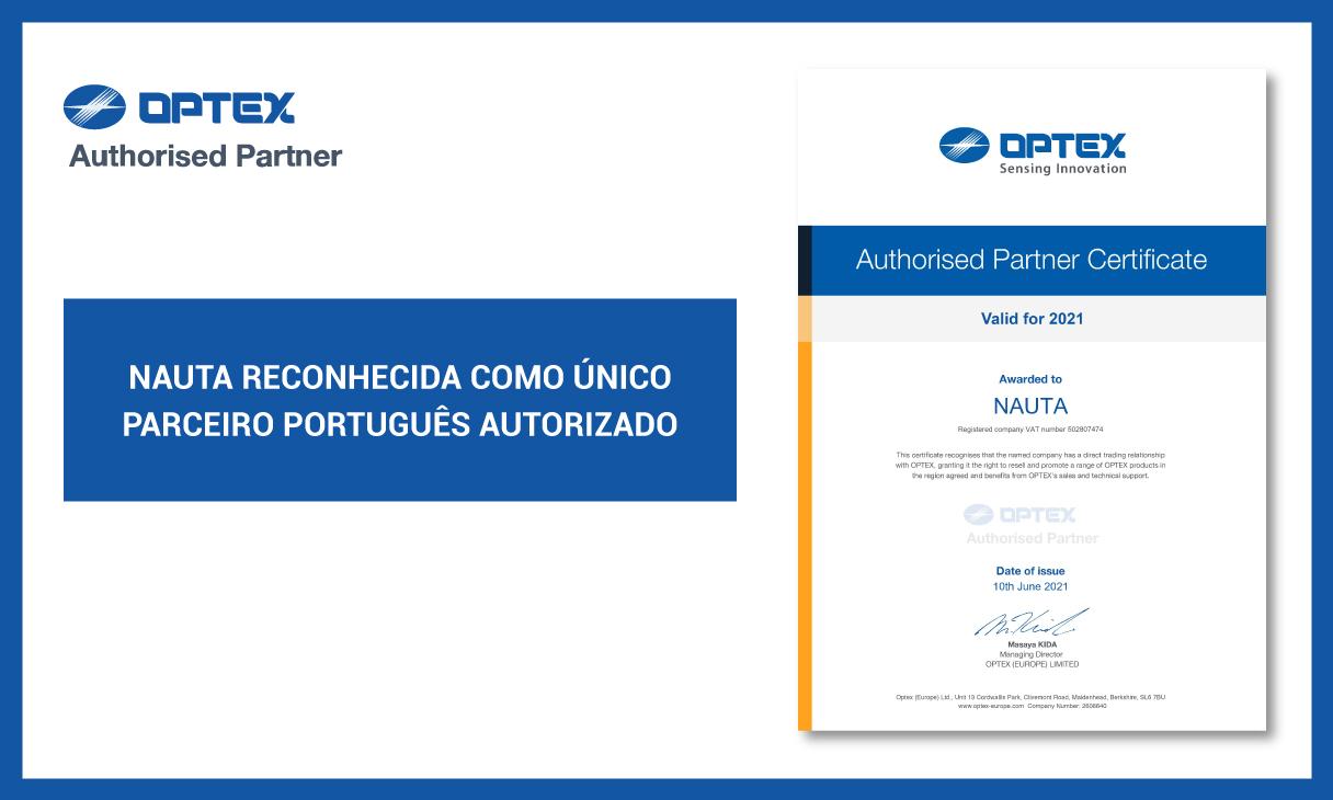 NAUTA certificada pela OPTEX
