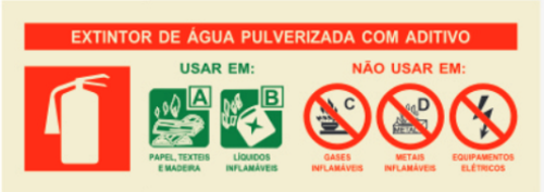 INSTRUÇÃO EXTINTOR ÁGUA PULVERIZADA  235x85