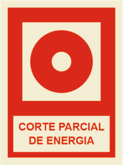 CORTE PARCIAL DE ENERGIA 100x150