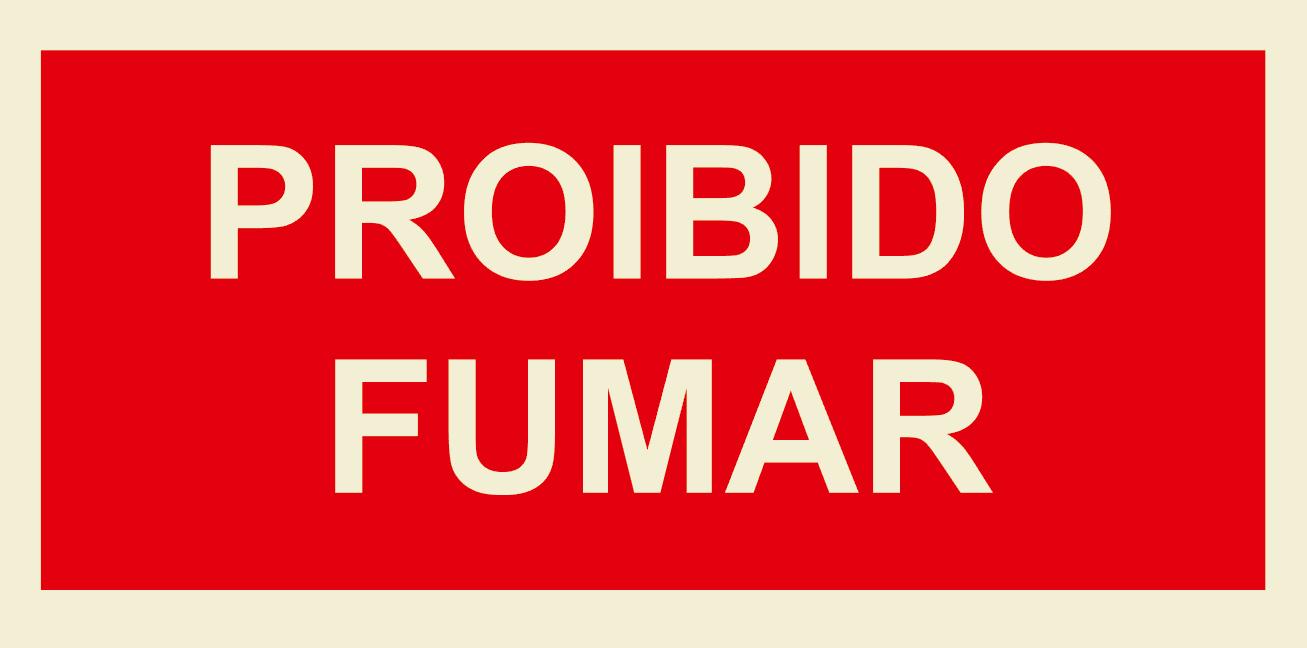 PROIBIDO FUMAR 200X100